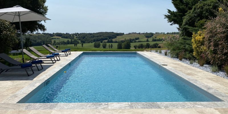 Beautiful countryside vistas from our heated pool